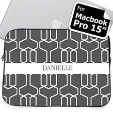 Nombre personalizado Manga Macbook Pro 15 de reja gris (2015)