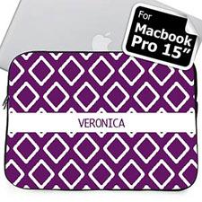 Nombre personalizado Funda Púrpura para Macbook Pro 15 (2015)