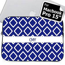 Manga para el Macbook Pro 15 (2015) personalizada con iniciales azules