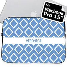 Nombre personalizado Funda Lkat azul Macbook Pro 15 (2015)