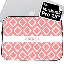 Nombre personalizado rosa Lkat Macbook Pro 15 Manga (2015)