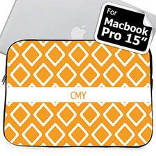 Iniciales personalizadas Orange Lkat Macbook Pro 15 Manga (2015)
