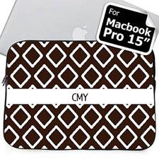 Iniciales personalizadas Chocolate Lkat Macbook Pro 15 Manga(2015)