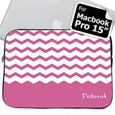 Nombre personalizado Chevron Lavanda Manga Macbook Pro 15 (2015)