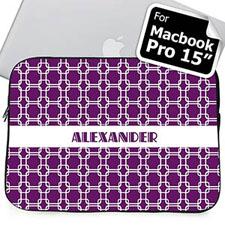 Nombre personalizado Enlaces Púrpura Funda para Macbook Pro 15 (2015)