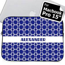 Nombre personalizado Enlaces azules Funda para Macbook Pro 15 (2015)