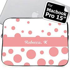 Nombre personalizado Círculos retro rosados Macbook Pro 15 Manga (2015)