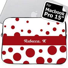 Nombre personalizado Círculos Retro Rojos Manga Macbook Pro 15 (2015)