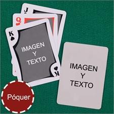 Naipes personalizados tipo póker moderno, personalizados de los 2 lados