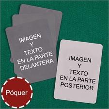 Naipes personalizados tipo póker personalice (Cartas en blanco)