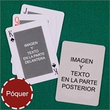 Naipes personalizados póker clásico personalizados de los 2 lados