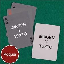 Naipes personalizados tipo póker simple personalizados de los 2 lados
