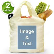 Personalizar la bolsa de compras doblada por 2 lados, imagen n retrato