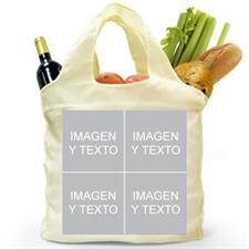Personalizado de los dos lados 4 colage doblada bolsa de compras , clásico