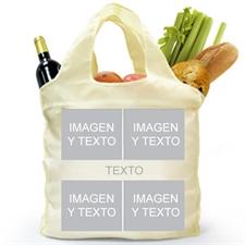 Bolsas de compras dobladas y personalizadas por delante y por detrás, instantáneas