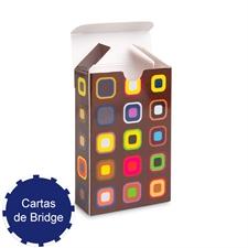 Caja de plegado personalizada para niapes de tamaño de cartas para bridge