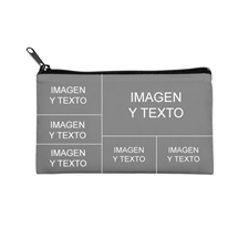 Bolsa cosmética personalizada con Collage de 6 fotografías (imagen diferente de 2 lados)