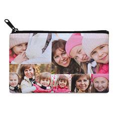 Bolsa cosmética con collage de 6 fotografías. 2 lados, misma imagen. (10.1x17.7)