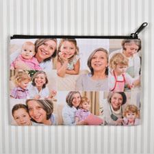 Bolsa cosmética personalizada con Collage de 7 fotografías 15.2x22.8 (imagen igual de 2 lados)