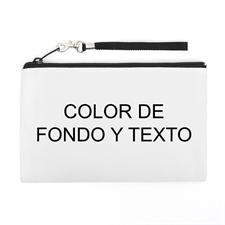 Bolsa de mano personalizada con texto y color (imagen distinta de cada lado), 12.7x20.3 cm