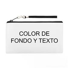 Bolsa de mano personalizada con texto y color (imagen distinta de cada lado), 13.9x25.4 cm