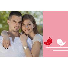 Tarjeta animada personalizable, pájaro y corazón. (10,16cm x 15,24cm)