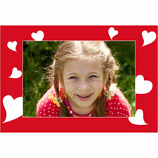 Tarjeta animada personalizable con muchos corazones (10,16cm x 15,24cm)