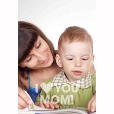 Tarjeta animada personalizable, Felíz día de la Madre. (10,16cm x 15,24cm)