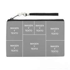 Bolsa de mano personalizada con collage de 7 fotografías (imagen distinta de cada lado), 12.7x20.3 cm