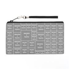 Bolsa de mano personalizada con collage de 39 fotografías (imagen distinta de cada lado), 13.7x25.4 cm