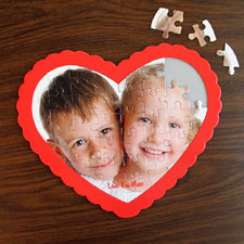 We Heart Grandma Personalizado Heart Shape Puzzle