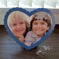 We Heart Grandpa Personalizado Heart Shape Puzzle