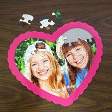 Happy Birthday Personalizado Heart Shape Puzzle