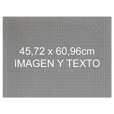 45.72 cm x 60.69 cm Personalice su rompecabezas con fotografía y mensaje de 70 o 252 o 500 piezas