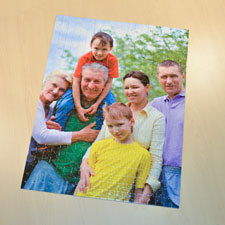 Rompecabezas tamaño jumbo con 70 o 252 o 500 piezas con foto de un retrato de 45.72 cm x 60.96, Caja personalizada
