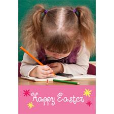 Tarjeta animada personalizable Felíz Pascua (10,16cm x 15,24cm)