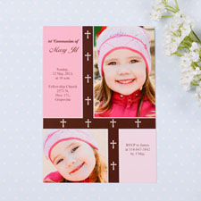 Tarjeta personalizada de Primera Comunión con collage diseño