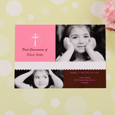 Tarjeta personalizada con collage de fotografías diseño
