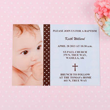 Tarjeta personalizada de bautizo diseño