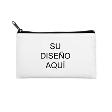 Bolsa cosmética pequeña (10.1x17.7) con impresión personalizada y cremallera negra (imagen misma)