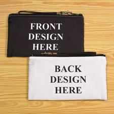 Bolsa de mano personalizada con diseño propio. Un diseño distinto de cada lado. 13.9x25.4 cm