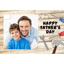 Tarjetas de felicitación lenticular personalizadas para papá de carpintería