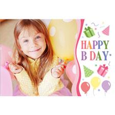 Personalizado Happy B Day Girl Tarjeta de felicitación lenticular
