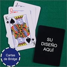 Imprima su diseño Naipes tamaño Bridge con índice estandar