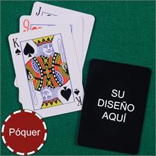 Naipes personalizados diseño y tamaño póker con índice estandar