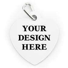 Placa de mascota personalizada por un lado con forma de corazón
