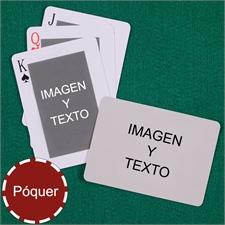 Naipes tipo póker clásico personalizados de los 2 lados con paisaje