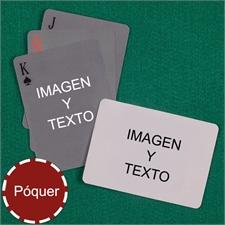 Naipes tipo póker simple personalizados de los 2 lados con paisaje