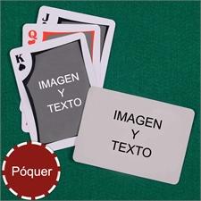 Naipes tipo póker moderno personalizados de los 2 lados con paisaje