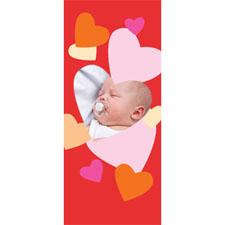 Separador personalizable con fotografía y marco de corazones
